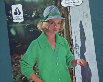 6043 UK 60s original pattern Vintage knitting pattern 1960s women/'s cardigan blazer jacket Lee Target No nautical sailor style