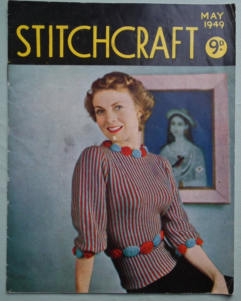 7720a5f7c Vintage 40s Stitchcraft May 1949 Knitting Sewing Magazine