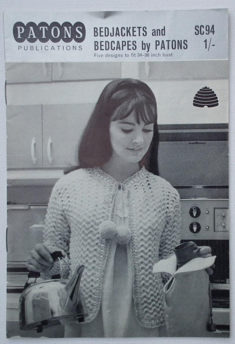5c619f05dafc Vintage 1960s Knitting Pattern Booklet Women s Bedjackets