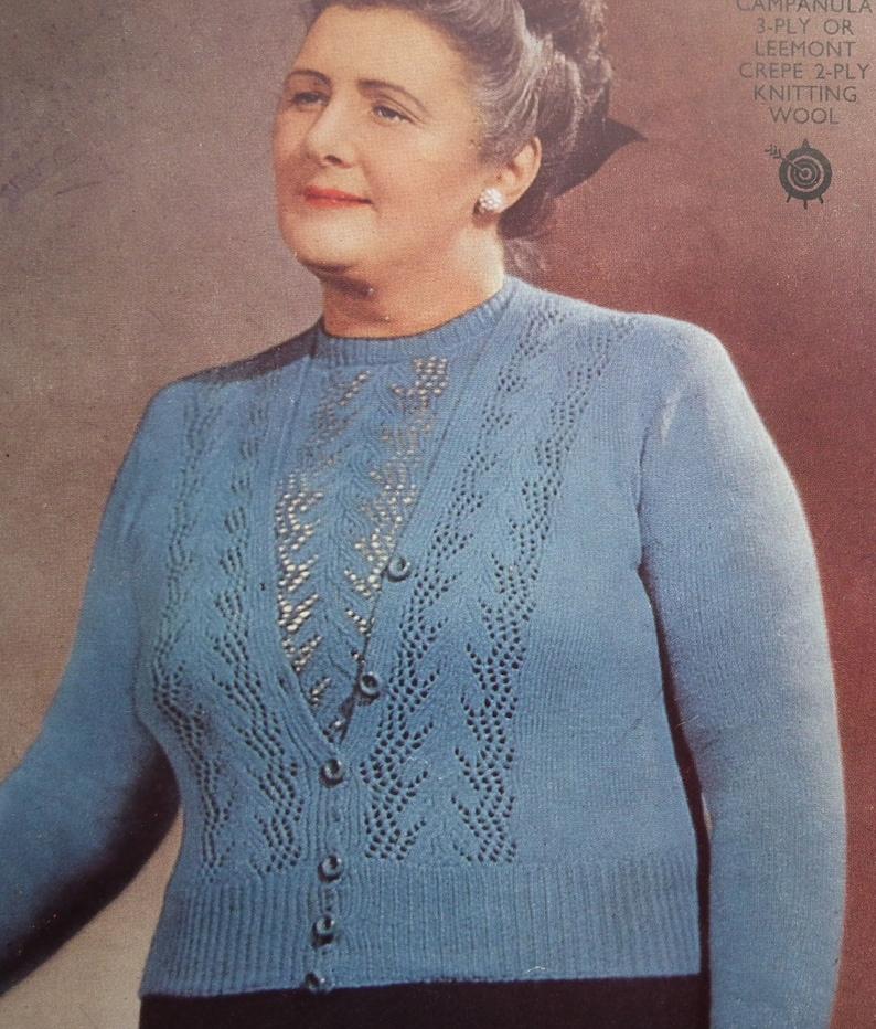 Vintage Knitting Pattern 1930s 1940s Women's Twin Set   Etsy