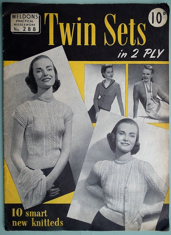 Sportswear in Knitting by Stitchcraft UK Vintage 40s 50s Knitting Book Booklet 1940s 1950s original patterns swim suit cardigans jumpers etc
