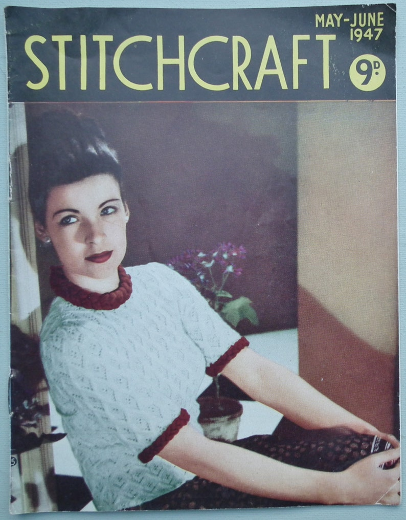 075930451 Vintage 40s Stitchcraft May June 1947 Knitting Sewing Magazine