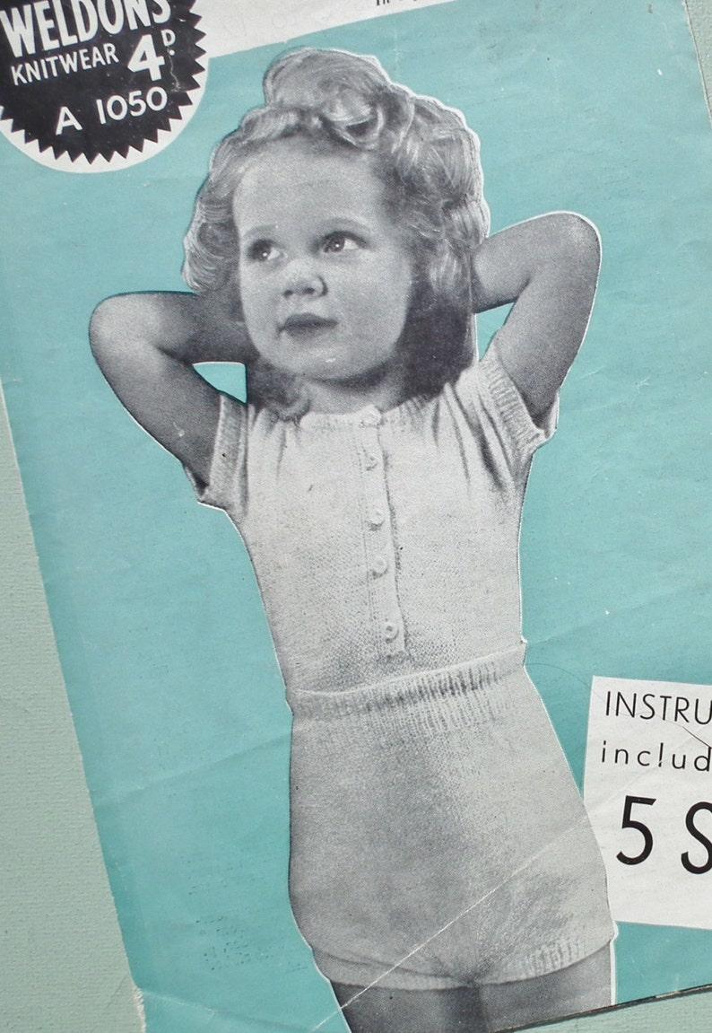 f07030620c Vintage 50s Knitting Pattern Child s Girl s Undies