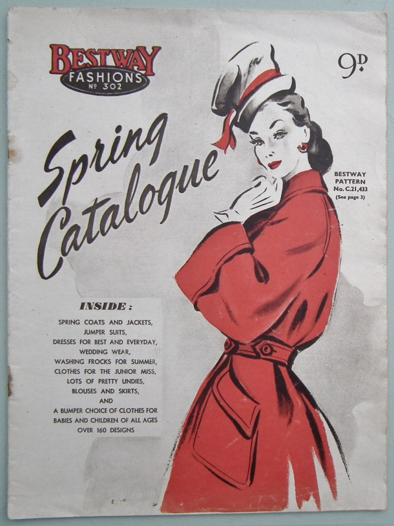 9ab610f5d Vintage 1940s sewing patterns catalogue magazine Bestway