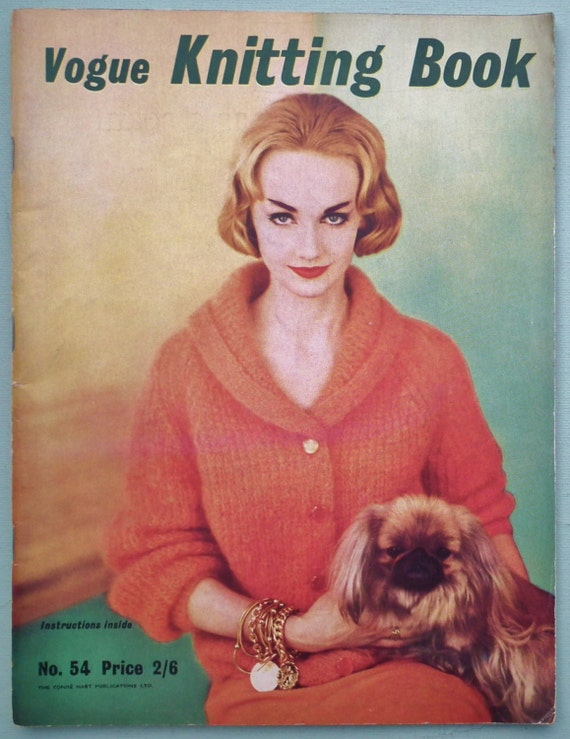 Vintage Vogue Knitting Book No 54 1959 1950s knitting patterns ...