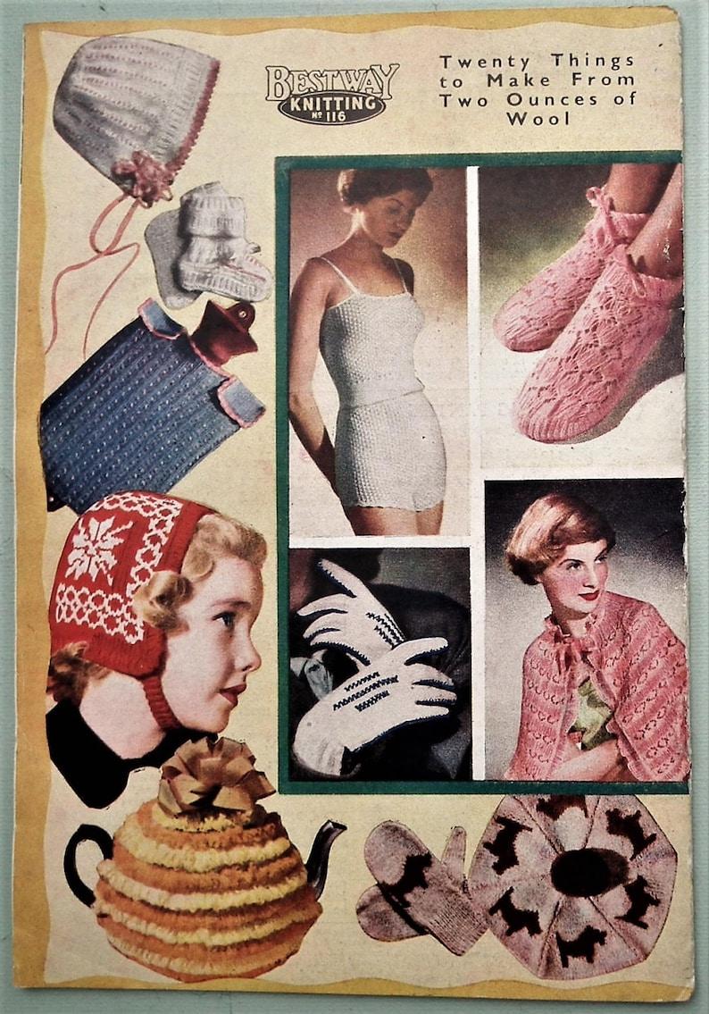 Vintage Knitting Patterns Book 1940s 1950s Bestway ...
