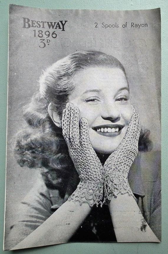 Lady/'s cobweb waistcoat crochet pattern Copy from vintage booklet.