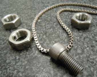 Stainless Steel Bolt Pendant