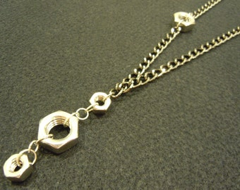 Stainless Steel Hexnut Necklace