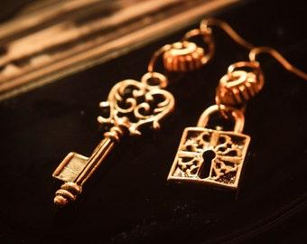 Key & Lock Earrings