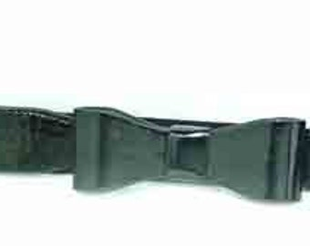 665da9f968ca Adult size adorable BOW BLACk Patent elastic cinch belt