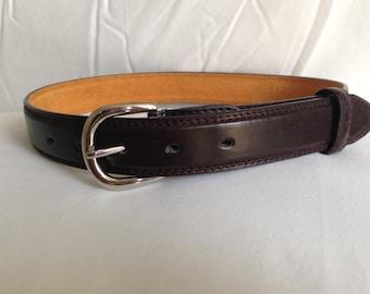LEATHER Brown belt- Boys InFant, Toddler, KIDS
