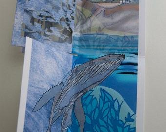 Gray Whale Breaching  (POPup FoldOUT)