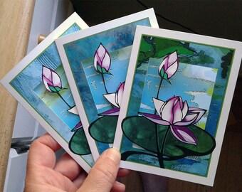 Lotus papercut card