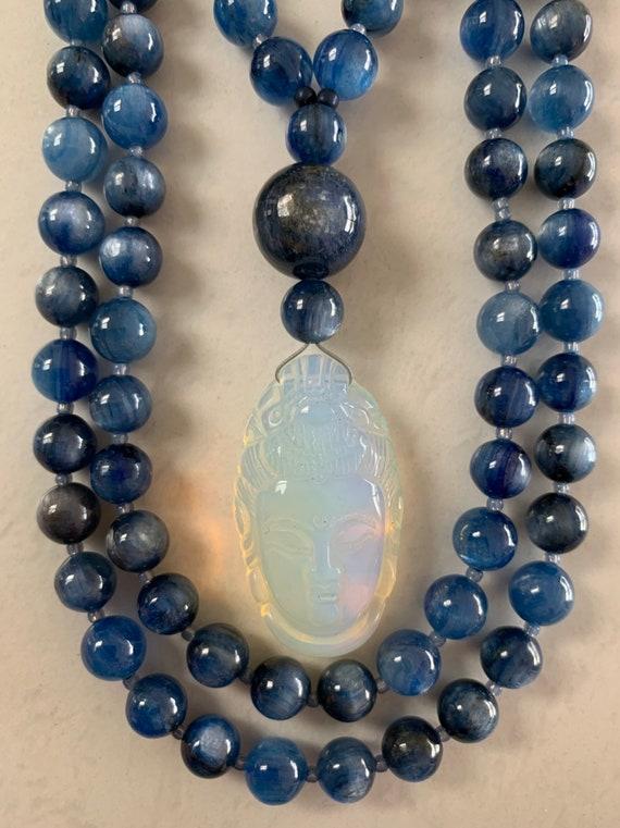 Blue Kyanite and Opalite Mala/Prayer Beads