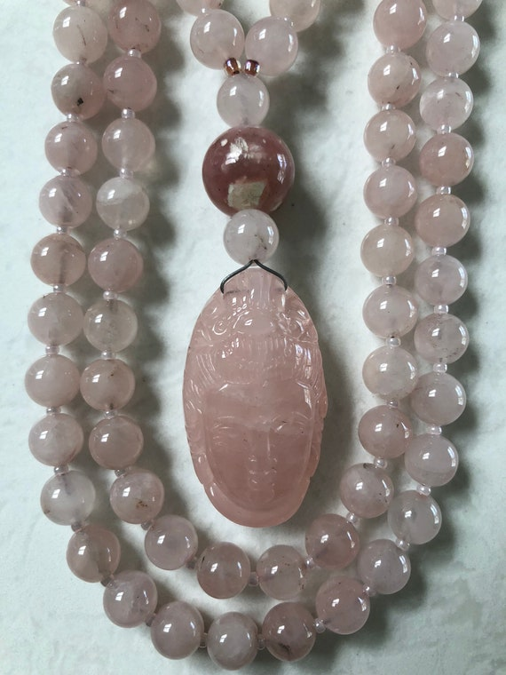 Rose Quartz Mala/Prayer Beads