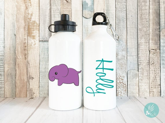 Personalized Kids Water Bottle 20 oz Personalized Elephant Water Bottle Kids Personalized Gifts for Kids Waterbottle Cute Elephant Gift