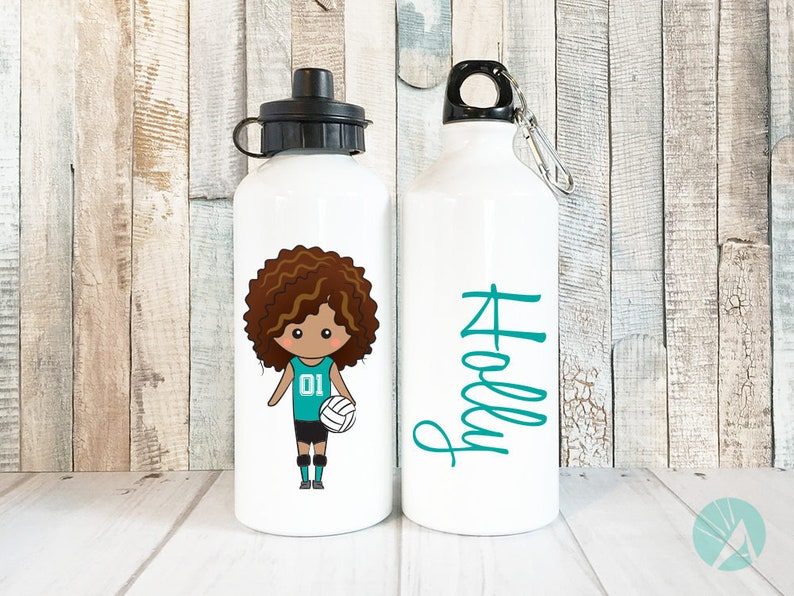 Personalized Volleyball Water Bottle Girls Personalized Kids image 0