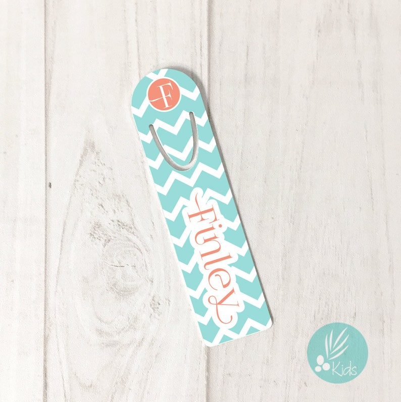 Personalized Bookmark for Kids Gift Personalized Monogram Book image 0