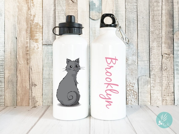 Cat Lover Gift Personalized Cat Water Bottle Cat Bottle Cat Mom Bottle Gift For Cat Mom Custom Cat Mom Cats Personalized Water Bottle