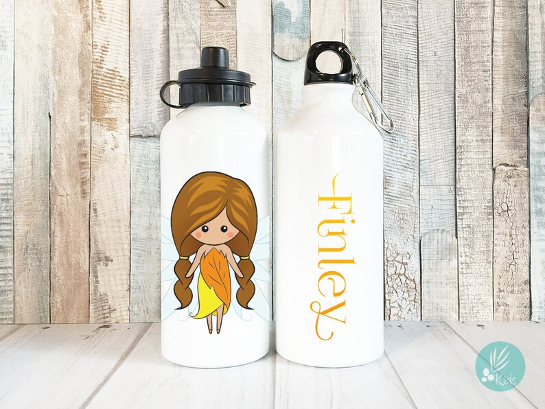 Personalized Kids Water Bottle Personalized Fairy Gift for image 0