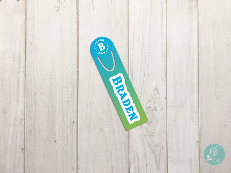 Personalized Bookmark Custom Bookmark Gradient Pattern Metal image 0