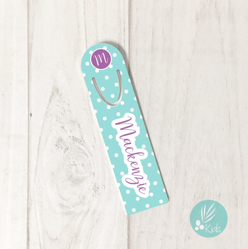 Personalized Gifts for Kids Bookmarks for Kids Monogram Book image 0