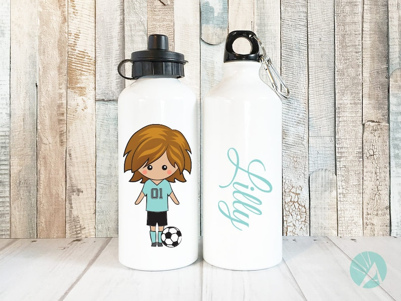Soccer Personalized Water Bottle Girls Personalized Soccer image 0