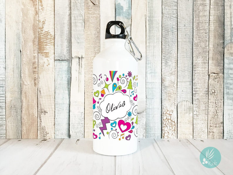 Personalized Kids Water Bottle Personalized Girl Gifts image 0