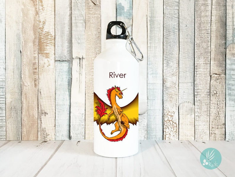 Unique Water Bottle Personalized Dragon Personalized Kids image 0