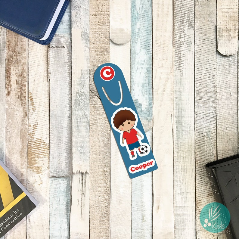 Personalized Bookmark for Kids Personalized Soccer Gifts for image 0