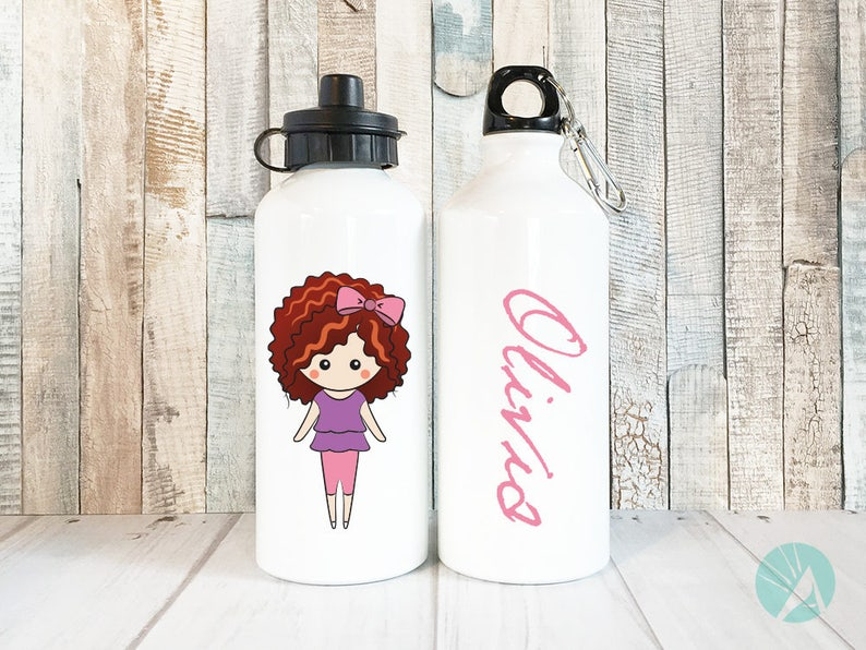 Water Bottle Personalized Kids Drink Bottle Kid Waterbottles image 0