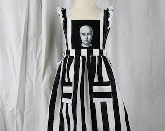 Girls Pinafore Dress, Girls Fashion, Striped Girls Dress