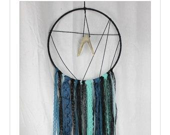 Dream Catcher Wall Hanging, Boho Wall Hanging, Dreamcatcher, Blue Dream Catcher