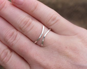 Sterling. Silver. Wrap.  Ring.