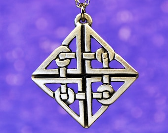 Celtic Knot Necklace | Celtic Jewelry | Irish Jewelry | Scottish Jewelry | Handcrafted Jewelry made with Fine Pewter by Treasure Cast