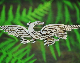 ab6f2dece Celtic Eagle Brooch in Fine Pewter | Celtic Birds | Celtic Jewelry | Eagle  Pin | Made in the USA by Treasure Cast Pewter