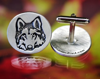 Dad gift Howling Wolf Cufflinks set Men/'s Gift Set Wolf Cufflinks Wolf Suit Accessories Wolf Tie Pin Wolf pin set Father/'s day gift