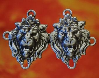Artisan made Fancy Medium Cloak Pins in Bronze or Nickel /& 6 designs