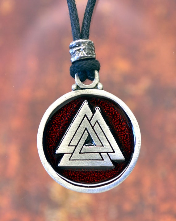 Viking Valknut Pewter Concho Medieval//Norse//Handcrafted Size 7//8