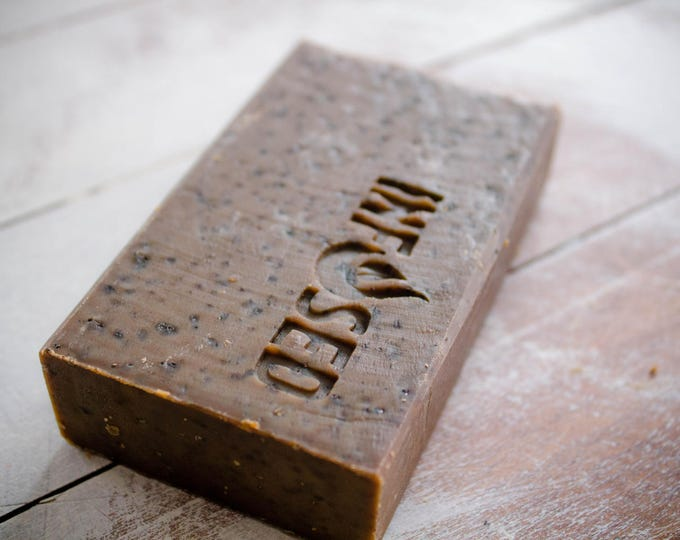 Coffee Infused Exfoliating Scrubby Soap Bar