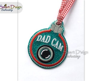 Head Elf Cam Christmas Bauble Ornament Ith Machine Embroidery Etsy