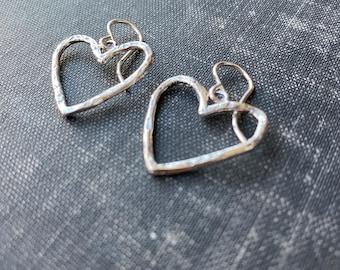 Wrangler Heart Earrings Sterling Silver Pendant Necklace by iNk Jewelry