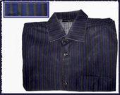 Marimekko MOD, Older Jokapoika Purple Olive Gray Shirt, Made in Finland, Suomi Label, Mans 37, Scandinavian Cool, Vintage Fashion,Unisex