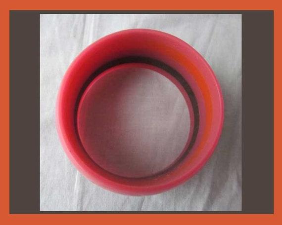 Hot LAMINATION, Wide Stripes Bangle, Hot Orange a… - image 4