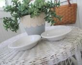 FREE SHIPPING Vintage Homer Laughlin White Fiesta Bowls