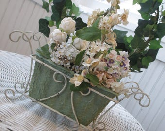Lot of Vintage Millinery * Wire Basket * Planter * Shabby Cottage Chic