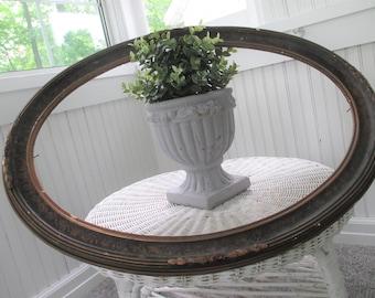 Vintage Frame * Oval * Gesso * Antique