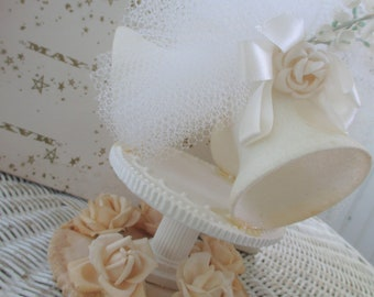Vintage Wedding Cake Topper * Glitter Bells * Paper Roses * Lily of the Valley * Original Box * The May Co.