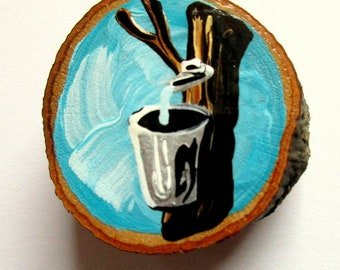 Magnet Hand-painted Art Sap Can